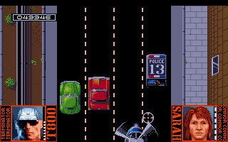 Terminator 2: Judgment Day Amiga Level 7 - Ride a SWAT van and destroy helicopter