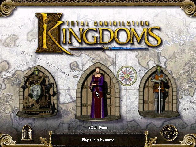 Total Annihilation: Kingdoms Windows Choose your path