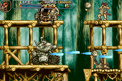 "Metal Slug Advance Game Boy Advance Some kamikaze warriors and an interfered helicopter are pestering the Metal Slug's ""life""."