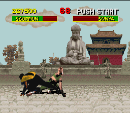 Mortal Kombat SNES Simultaneous sweeps.