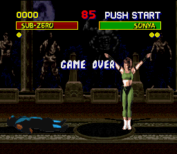 Mortal Kombat SNES Try again, dude: this pretty fighter is ready to the challenge!