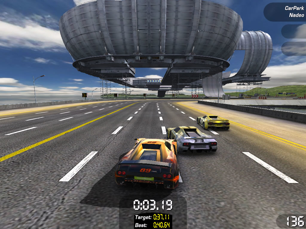 TrackMania Sunrise Windows The time to beat is shown in-game by three ghost cars: bronze, silver and gold.