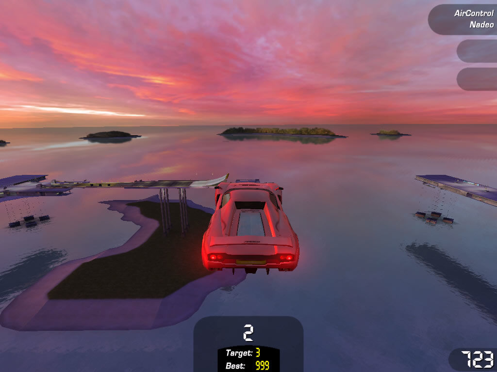 TrackMania Sunrise Windows You often have to do incredibly high jumps