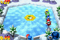 Mario Pinball Land Game Boy Advance See this scene: some Shy-Guys are playing before dying...