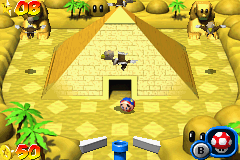 Mario Pinball Land Game Boy Advance A giant pyramid: another place to improve your exploration sense!