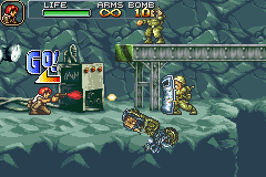 Metal Slug Advance Game Boy Advance During war, not even the motorcycles escape of being used as artillery.