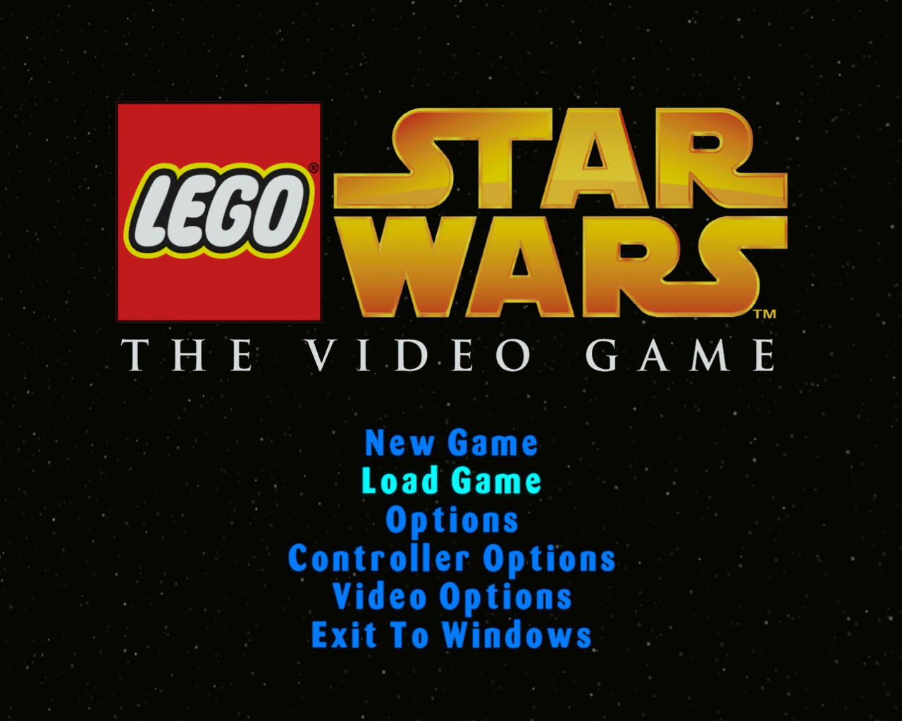 LEGO Star Wars: The Video Game Windows Main Menu.