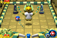 Mario Pinball Land Game Boy Advance Other boss: a big Koopa pharaoh with magical powers.