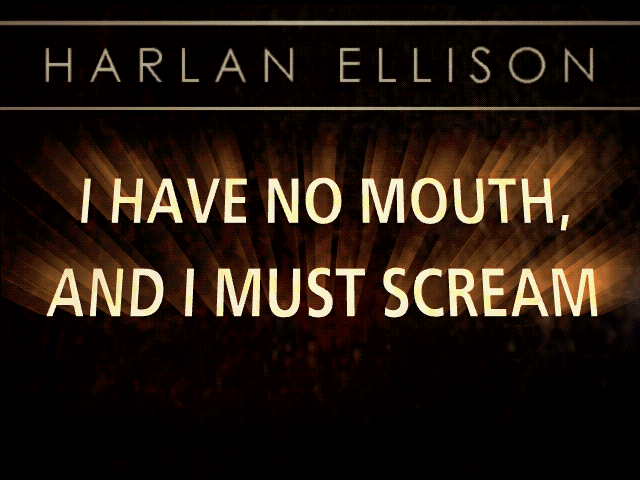 Harlan Ellison: I Have No Mouth, and I Must Scream DOS Title screen