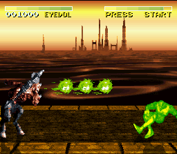 Killer Instinct SNES The enemy will have few possibilities to attack when Eyedol's triple fireball are used constantly.