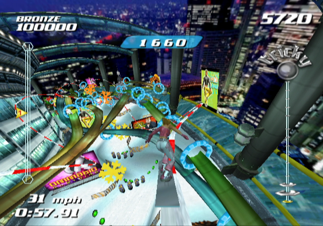 SSX Tricky GameCube You can get a lot of air at the Tokyo Megaplex