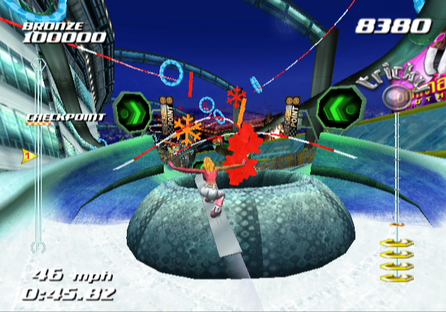 SSX Tricky GameCube Tried to jump into this tunnel, but missed