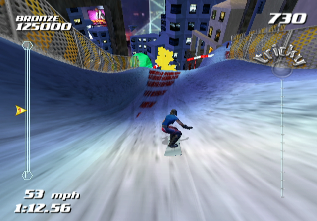 SSX Tricky GameCube Hmm, this jump ahead looks like a good place to attempt a trick...