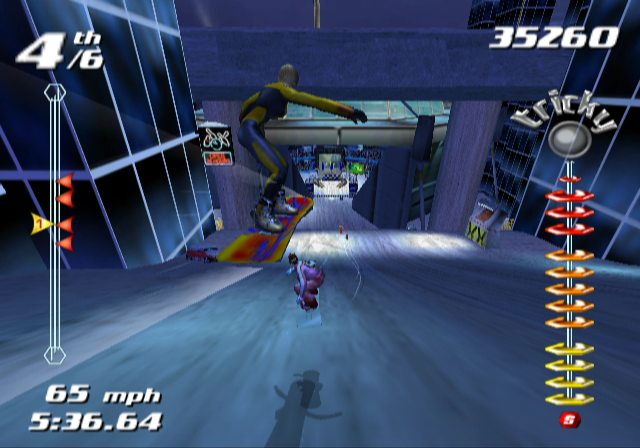 SSX Tricky GameCube Uh oh, other riders coming up behind me...