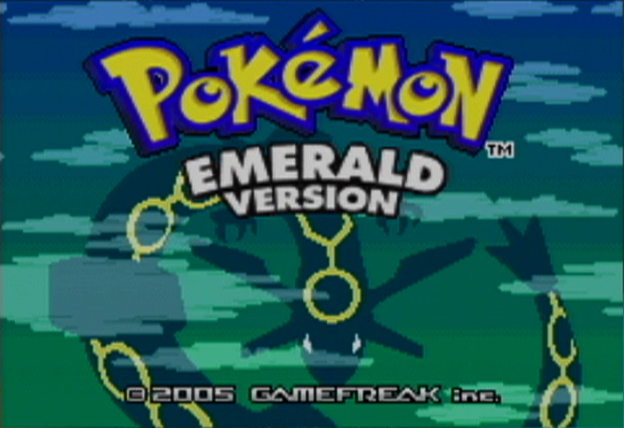 Pokémon Emerald Version Game Boy Advance Title Screen