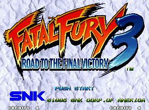 Fatal Fury 3: Road to the Final Victory Neo Geo Title screen.