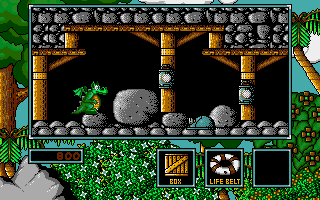 Little Puff in Dragonland Amiga A tin hat could come in handy later