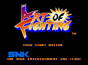 Art of Fighting Neo Geo Title screen.