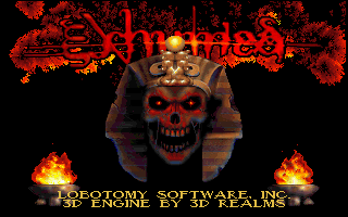 Powerslave DOS Title screen