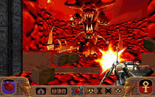 Powerslave DOS Where there's lava,  there's a chance you'll be up against one of these