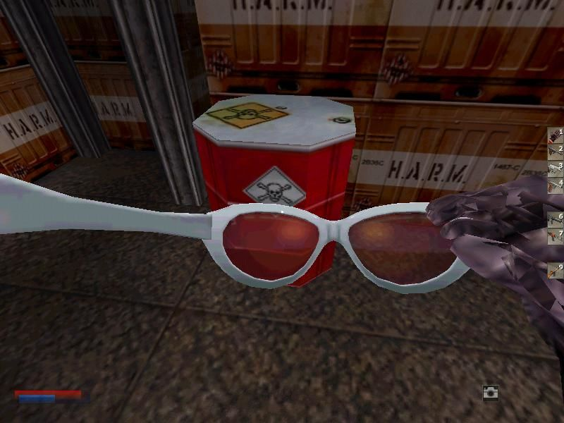 The Operative: No One Lives Forever Windows No secret agent man...or woman...would be complete without gadgets, such as their innocent looking sunglasses that can take photos, zoom in on enemies, or detect mines and lasers
