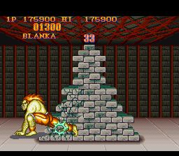 Street Fighter II SNES Break an enormous stack of bricks is an excellent exercise for the body and a great way to increase the score!