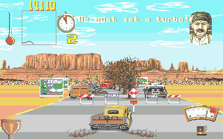 Moonshine Racers Atari ST You can't buy extras until after the first race
