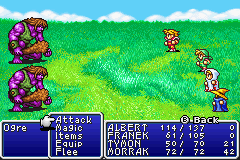 Final Fantasy I & II: Dawn of Souls Game Boy Advance Even more fighting (it's rpg after all ;-) (FF1)