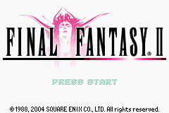 Final Fantasy I & II: Dawn of Souls Game Boy Advance FF2 Title screen
