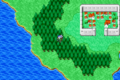 Final Fantasy I & II: Dawn of Souls Game Boy Advance World map (FF2)