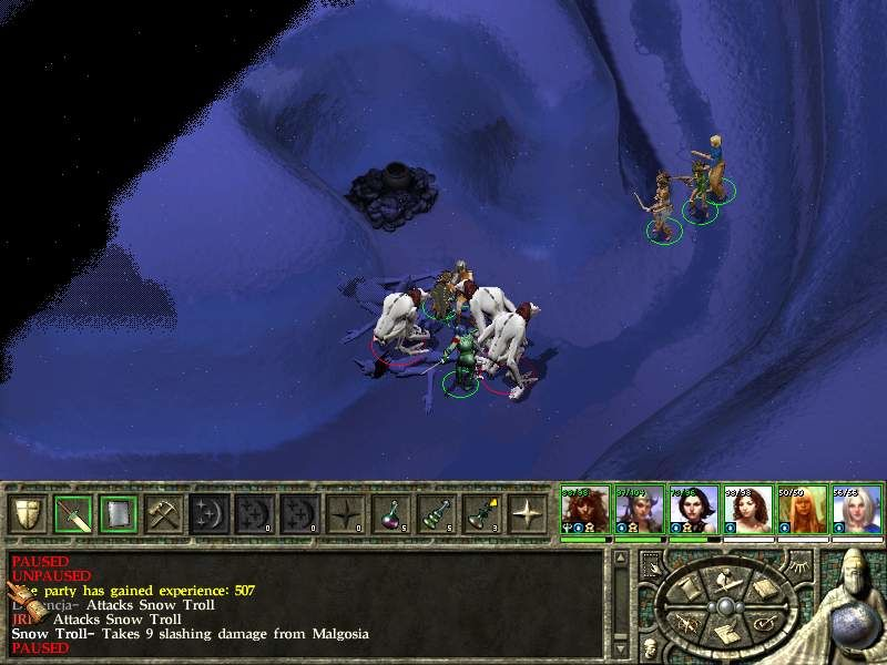 Icewind Dale II Windows Trolls - always have some fire/acid to kill them for good!