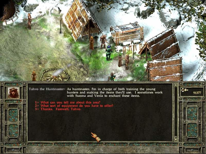 Icewind Dale II Windows Chatting with hunter