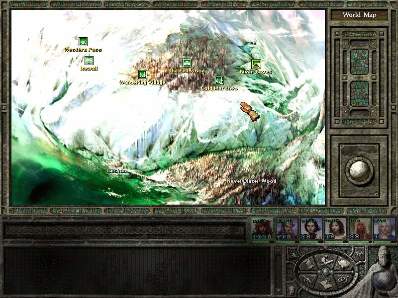 Icewind Dale II Windows World map