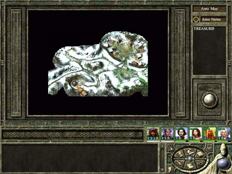 Icewind Dale II Windows Area automap