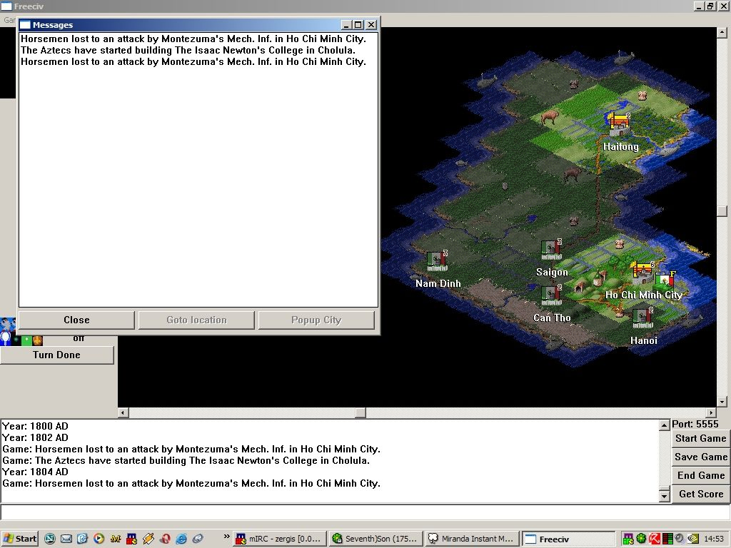 Freeciv Windows FreeCiv 1.14.x ... My great Vietnamese about to be defeated