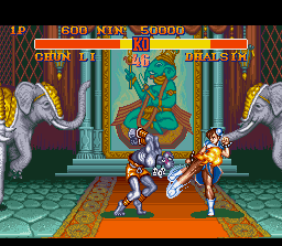 Street Fighter II SNES Dhalsim's Yoga Fire surpasses the fast kicks barrier created by Chun-Li: this is bad!
