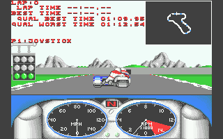 Combo Racer Atari ST Underway in qualifying - the timed lap starts after a couple of turns