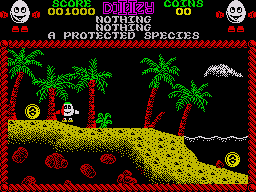 Treasure Island Dizzy ZX Spectrum Coins can be hidden behind almost anything