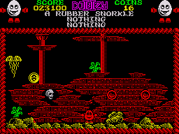 Treasure Island Dizzy ZX Spectrum Theres even a ship wreck at the bottom of the sea