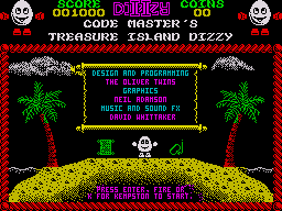 Treasure Island Dizzy ZX Spectrum Title Screen