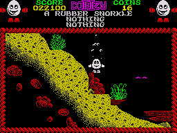 Treasure Island Dizzy ZX Spectrum You have to time the jump correctly here or you'll get killed