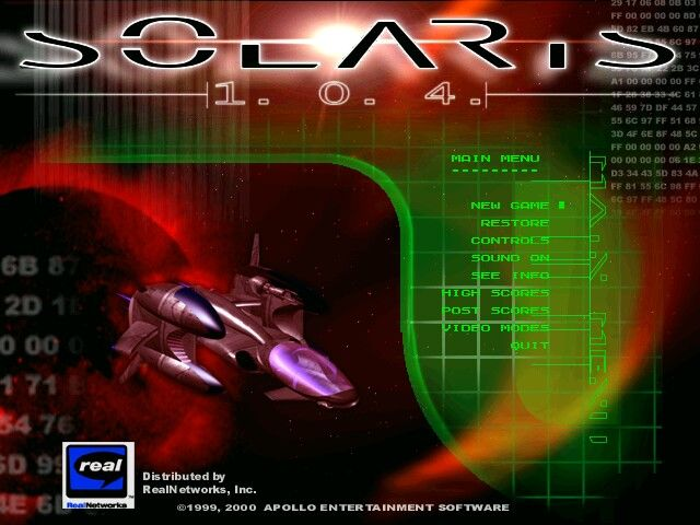 Solaris 1.0.4. Windows Main Menu