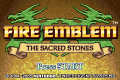 Fire Emblem: The Sacred Stones Game Boy Advance Title screen