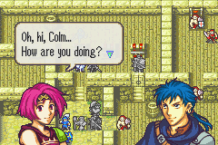 Fire Emblem: The Sacred Stones Game Boy Advance Sometimes certain characters can talk to each other on the battlefield to increase their support-level