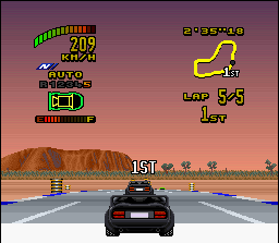 Top Gear 2 SNES Finishing in the 1st position: the exact moment!