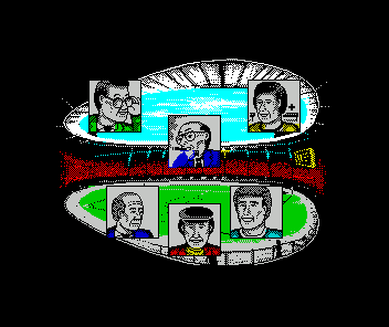 Kenny Dalglish Soccer Manager ZX Spectrum Menu of the various staff to consult with