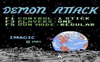 Demon Attack Commodore 64 Title screen