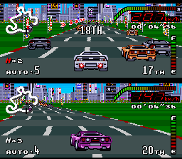Top Gear SNES The challenge now goes to Tokyo, Japan.