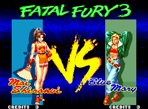 Fatal Fury 3: Road to the Final Victory Neo Geo VS screen.