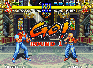 Fatal Fury 3: Road to the Final Victory Neo Geo Starting the 1st match (and the 1st round) in the vast Pioneer Plaza.